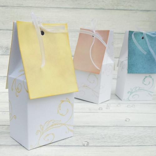 DOMEČEK dárková krabička, pastelový