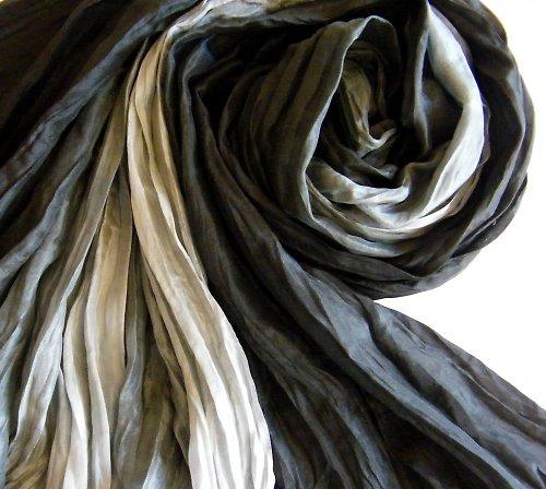 Černošedá elegance...hedvábný pléd 90x200