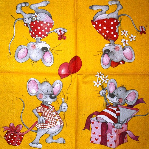 Ubrousek - myšky