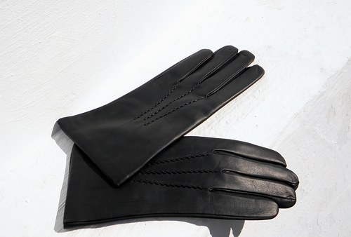 Pánské kožené rukavice s hedvábnou podšívkou