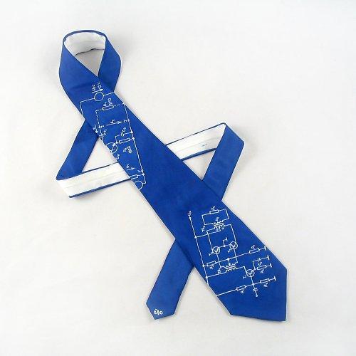 Kravata (nejen) pro elektrikáře - modrá