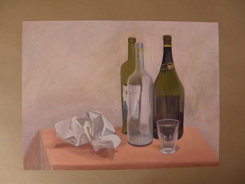 Zátiší s lahvemi