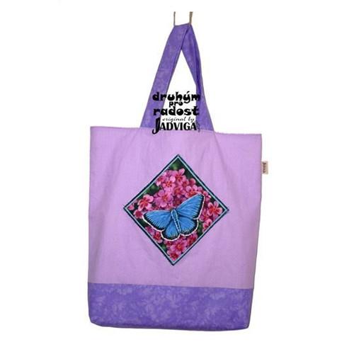 NÁKUPKA modrý motýl na fialové
