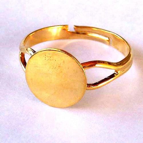 Prsten Americký 10mm - Zlatý