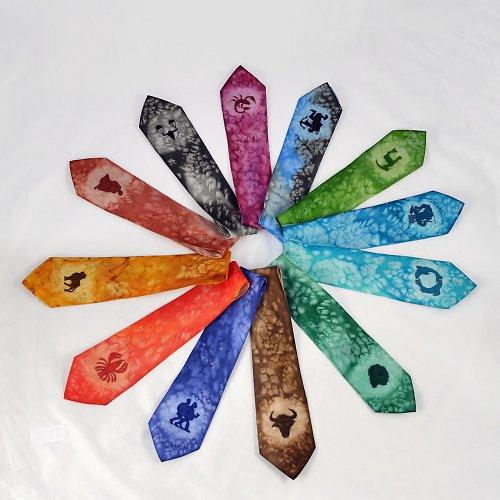 Hedvábná kravata ZVĚROKRUH - dle přání