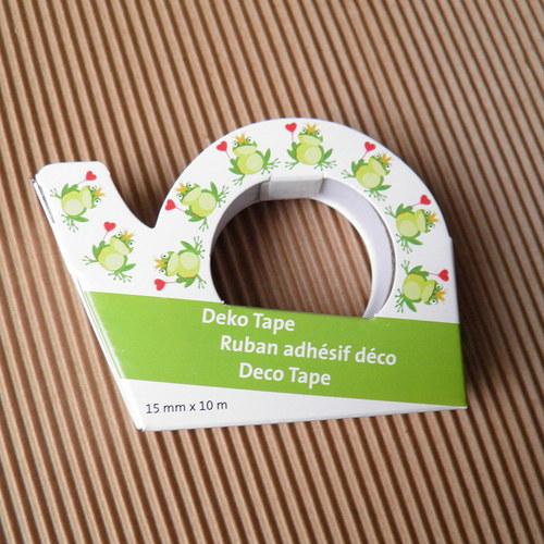Dekorace páska - izolepa - motiv žabky
