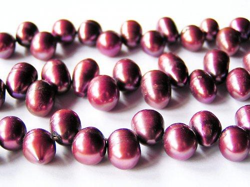 Vejčité tmavě fialové perly ((PM99))