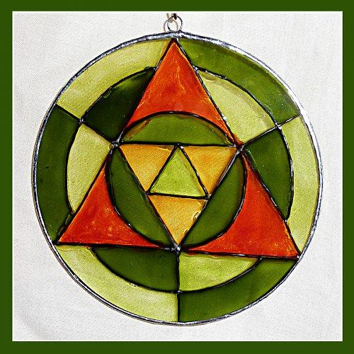 Mandala zelenooranžová