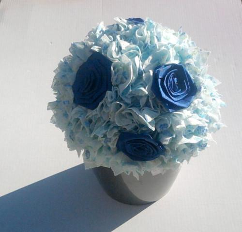 květinová dekorace modrá v modré