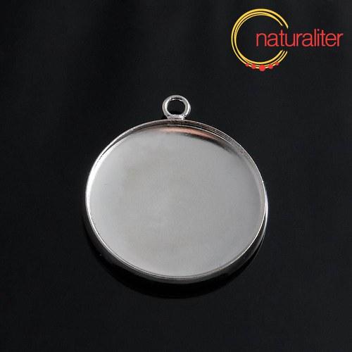 Lůžko kruh 20mm platinová barva