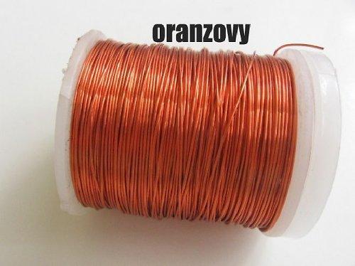 Měděný drát - oranžový tl.0,3 mm/50m