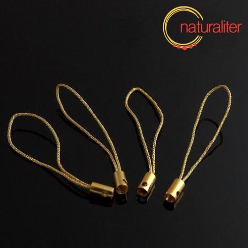 Šnůrka (poutko) 5 cm zlatá, 10ks