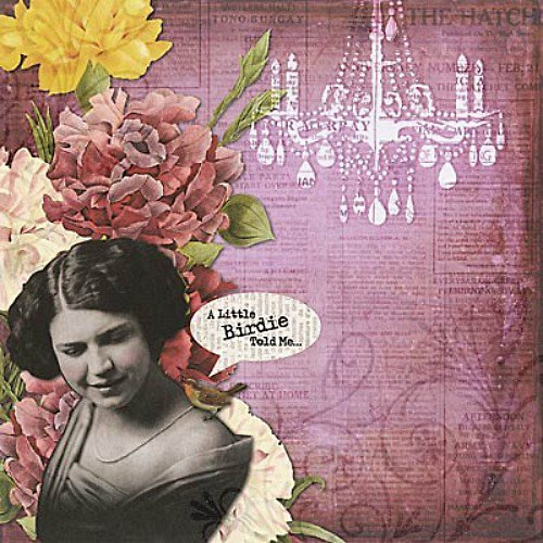 Vintage Collage čtvrtka na scrapbooking - emboss