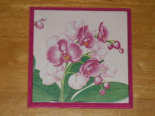 Obrázek na MDF destičce Orchidej III