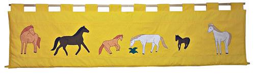 Kapsář za postel - Koně 200 x 50cm 1