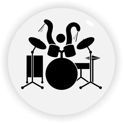 Bubeník rozpohybovaný