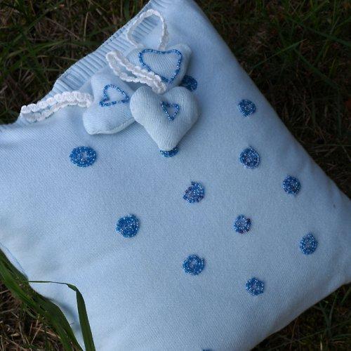Blankytně modrý se spirálkami plus dárek- sleva!!
