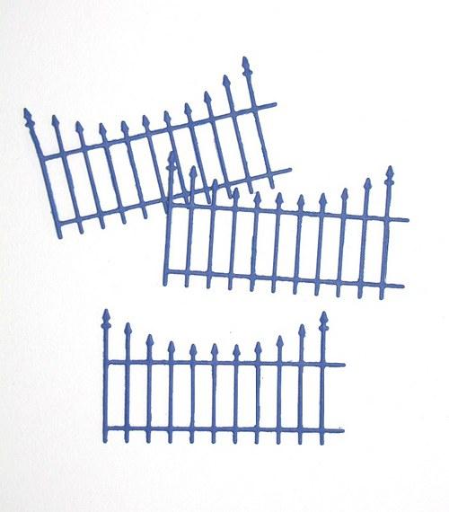 Ozdobný plot - 3 ks - barva podle přání