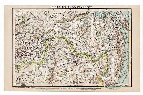 Vintage mapa  SIBIŘ I. č.800
