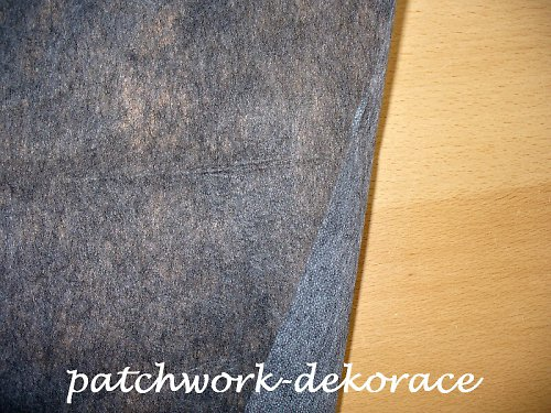 Vlizelín/ Ronopast 40+18 gr/m2 - tmavě šedý