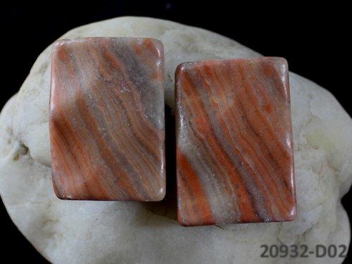 20932-D02 JASPIS dva spárované kameny 35/25