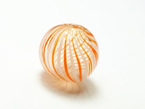 skleněný foukaný korálek 15mm