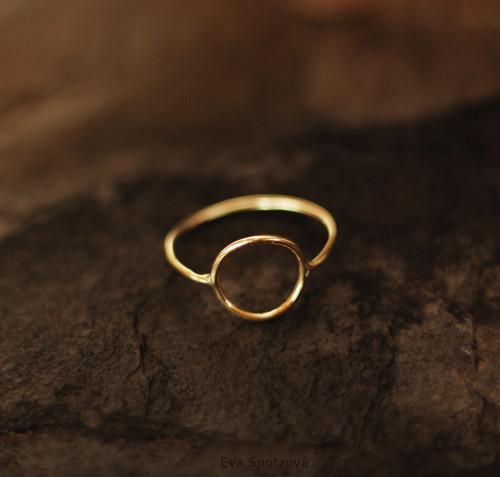 Graphic garden N°9 prsten - zlato (Au 585/1000)