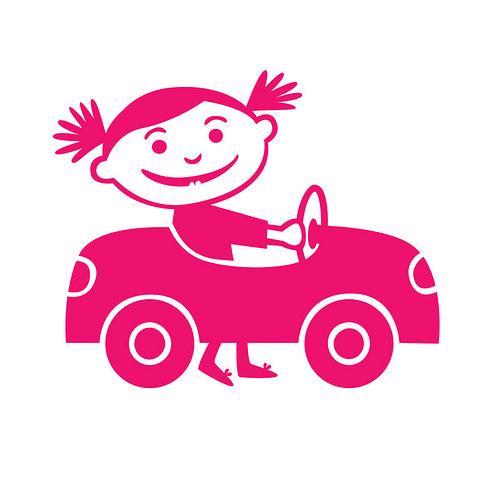 Auto šlapací holčičí