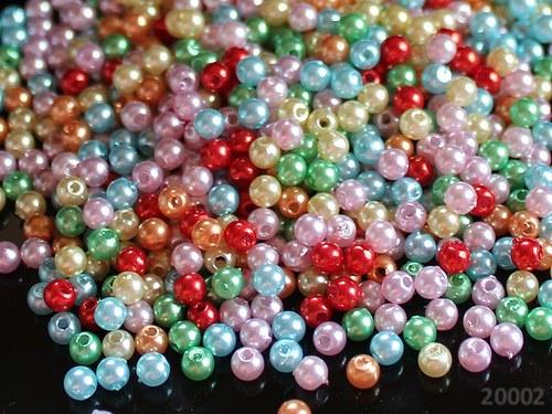 20002 Letní směs akrylových perel 4mm, bal. 70ks!