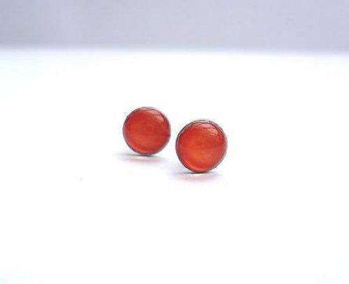 Náušničky malé oranžové