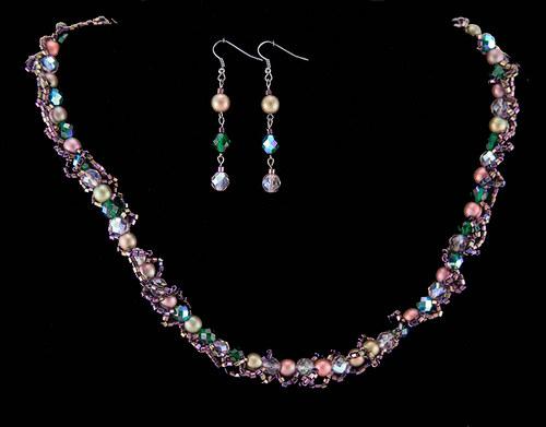 """Spr náhrdelník a náušnice - \""""schizo\"""""""