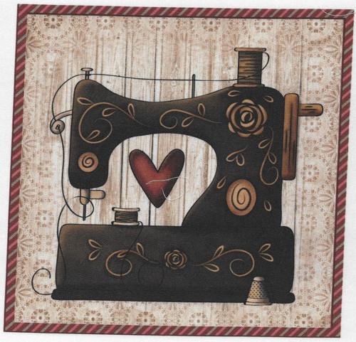bavlněná látka - panel 18 x 18 cm
