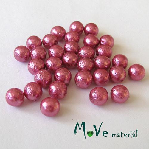 České voskové perle s úpravou 7mm/32ks, růžovofial