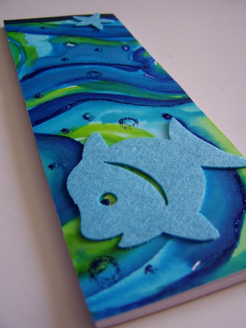 rybičkový trháček akvarel..