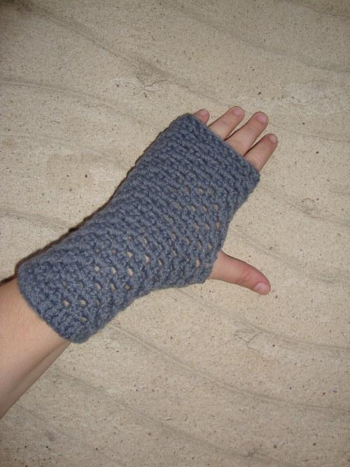 Bezprstové rukavice šedé