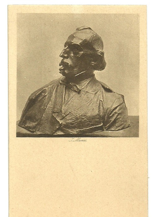 Umělecká pohlednice socha J.Manes
