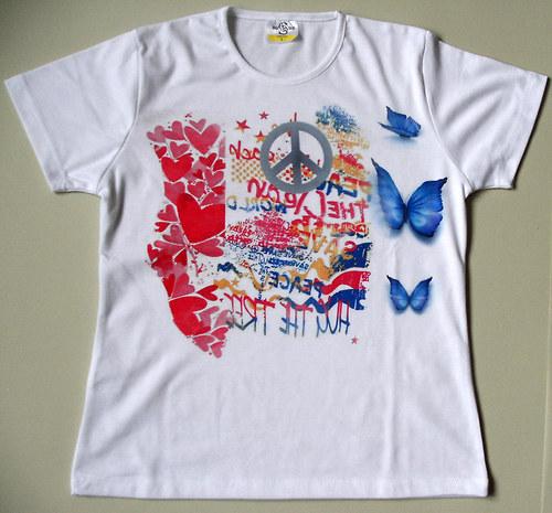 tričko love. sublimační tisk.