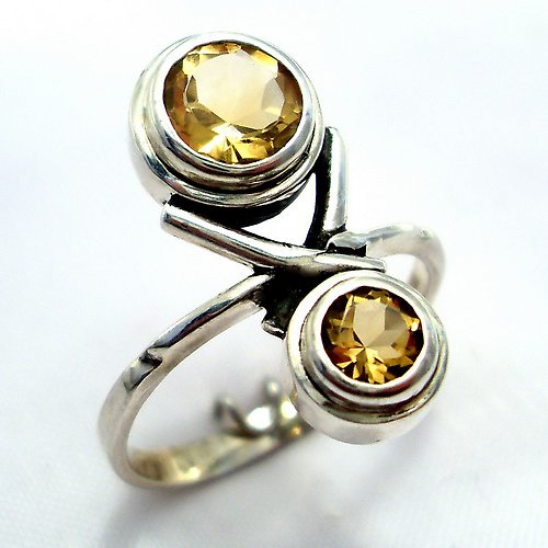 Prsten «Spolu» - stříbro 925, přírodní citrín