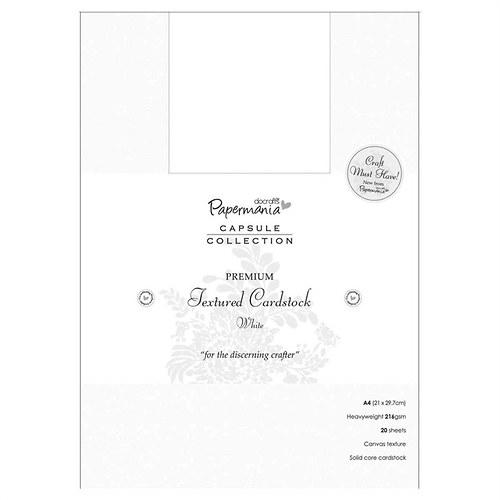 Čtvrtky A4 s texturou - bílé (20 ks)