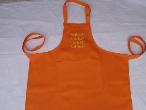 Zástěra oranžová