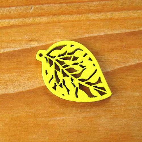 Dřevěný Lísteček - Žlutý