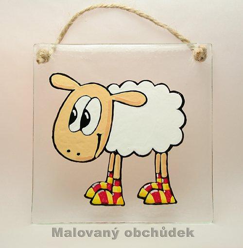 Skleněný obrázek s ovečkou Blaženkou