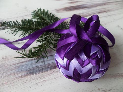 patchworková koule - fialová