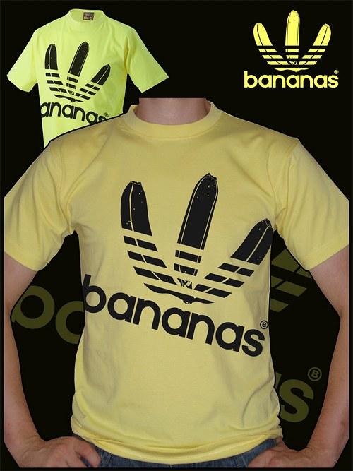 Pánské světle žluté tričko Bananas velký potisk