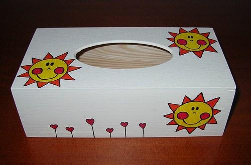 Krabička na kapesníky- sluníčková