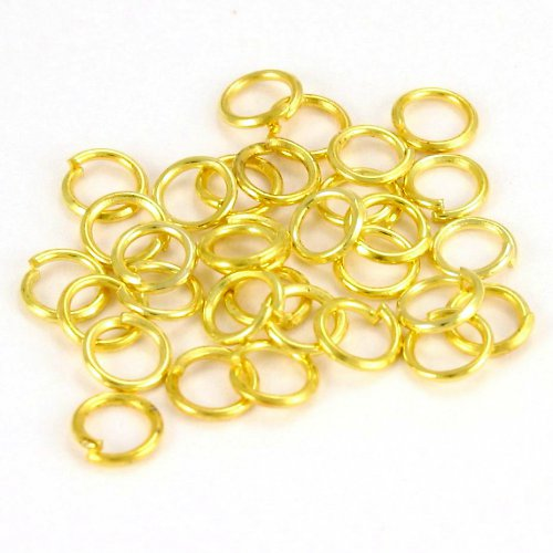 Zlaté kroužky 5 mm (50 ks)
