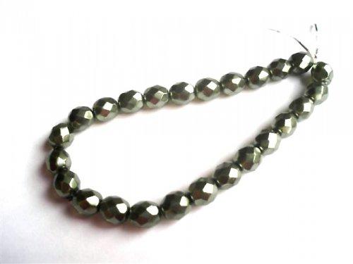 Broušené perle zelený vosk