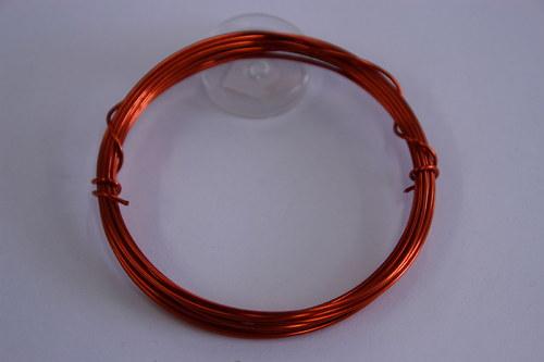 Měděný drátek 1mm - oranžový, návin 3,8-4m