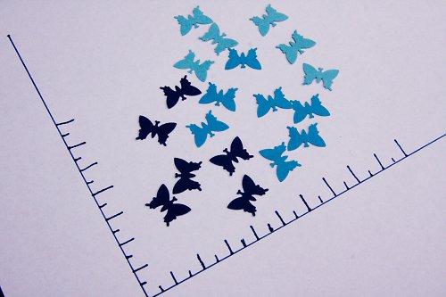 Výseky motýlci - 54ks