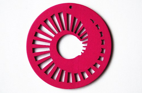 dřevěné kolečko 60 mm- sytě růžové